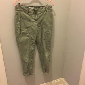 WHBM Light Green Cropped Pants